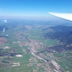 Flugwegposition um 11:13:22: Aufgenommen in der Nähe von Bad Tölz-Wolfratshausen, Deutschland in 2220 Meter