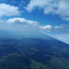 Flugwegposition um 12:25:46: Aufgenommen in der Nähe von Gemeinde Hittisau, Österreich in 2594 Meter