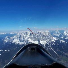 Flugwegposition um 13:28:02: Aufgenommen in der Nähe von Gemeinde Bichlbach, Österreich in 2960 Meter