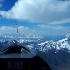 Flugwegposition um 14:32:23: Aufgenommen in der Nähe von 39049 Pfitsch, Bozen, Italien in 3076 Meter