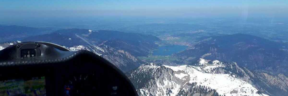 Flugwegposition um 10:58:06: Aufgenommen in der Nähe von Miesbach, Deutschland in 2190 Meter