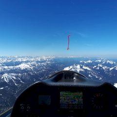 Flugwegposition um 10:16:26: Aufgenommen in der Nähe von Miesbach, Deutschland in 2258 Meter