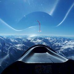 Flugwegposition um 14:48:08: Aufgenommen in der Nähe von Gemeinde Mayrhofen, Österreich in 3328 Meter