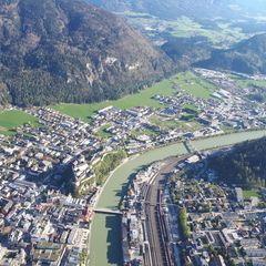 Flugwegposition um 15:57:02: Aufgenommen in der Nähe von Gemeinde Kufstein, Kufstein, Österreich in 1062 Meter