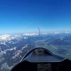 Flugwegposition um 12:26:25: Aufgenommen in der Nähe von Tauplitz, 8982 Tauplitz, Österreich in 2661 Meter