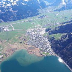 Flugwegposition um 13:24:47: Aufgenommen in der Nähe von Gemeinde Zell am See, 5700 Zell am See, Österreich in 2507 Meter