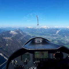 Flugwegposition um 15:10:20: Aufgenommen in der Nähe von Gemeinde Brandenberg, 6234, Österreich in 1922 Meter