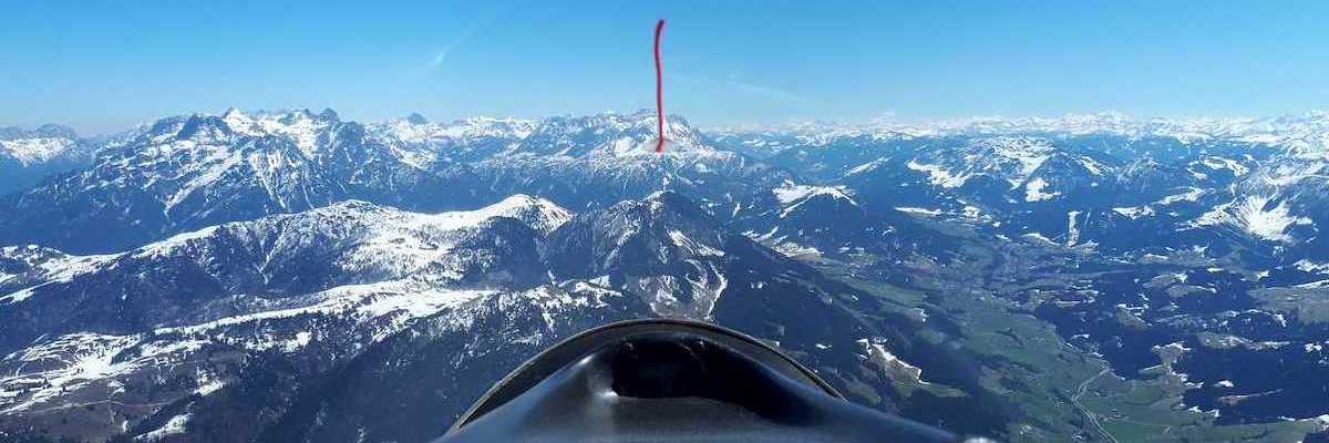 Flugwegposition um 10:54:02: Aufgenommen in der Nähe von Gemeinde St. Johann in Tirol, St. Johann in Tirol, Österreich in 2217 Meter