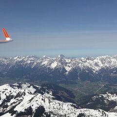 Flugwegposition um 13:59:59: Aufgenommen in der Nähe von Gemeinde Zell am See, 5700 Zell am See, Österreich in 2894 Meter