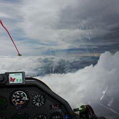 Flugwegposition um 13:44:03: Aufgenommen in der Nähe von Sarganserland, Schweiz in 5327 Meter