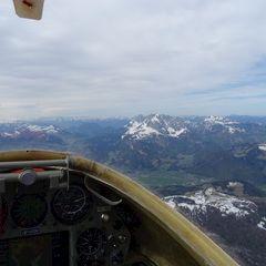 Flugwegposition um 09:08:09: Aufgenommen in der Nähe von Gemeinde Werfenweng, 5453, Österreich in 1986 Meter