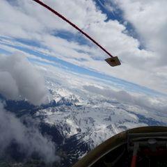 Flugwegposition um 11:41:41: Aufgenommen in der Nähe von Gemeinde Tarrenz, 6464 Tarrenz, Österreich in 2824 Meter