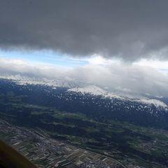 Flugwegposition um 14:57:53: Aufgenommen in der Nähe von Gemeinde Vandans, Vandans, Österreich in 3579 Meter