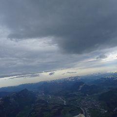 Flugwegposition um 15:16:55: Aufgenommen in der Nähe von Gemeinde Klösterle, Österreich in 4669 Meter