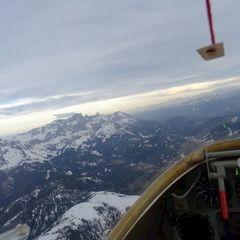 Flugwegposition um 16:14:38: Aufgenommen in der Nähe von Gemeinde Kundl, Österreich in 2836 Meter