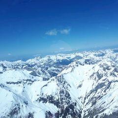 Flugwegposition um 13:08:09: Aufgenommen in der Nähe von Gemeinde Flirsch, Österreich in 3300 Meter