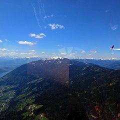 Flugwegposition um 11:15:45: Aufgenommen in der Nähe von Feldkirchen in Kärnten, Österreich in 1286 Meter