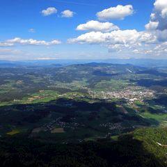 Flugwegposition um 13:25:13: Aufgenommen in der Nähe von Gemeinde Steindorf am Ossiacher See, Österreich in 1802 Meter