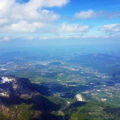 Flugwegposition um 12:27:21: Aufgenommen in der Nähe von Berchtesgadener Land, Deutschland in 2855 Meter