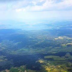Flugwegposition um 14:06:09: Aufgenommen in der Nähe von Gemeinde Haslach an der Mühl, 4170 Haslach an der Mühl, Österreich in 2371 Meter