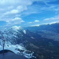 Flugwegposition um 13:17:52: Aufgenommen in der Nähe von Innsbruck, Österreich in 2470 Meter