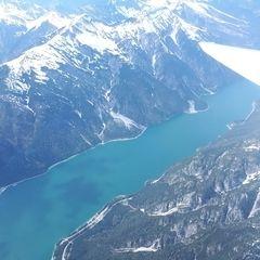 Flugwegposition um 13:39:03: Aufgenommen in der Nähe von Gemeinde Eben am Achensee, Österreich in 2841 Meter