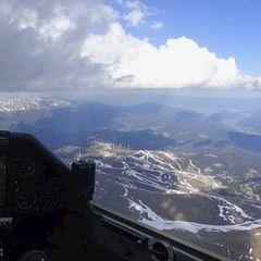 Flugwegposition um 13:53:38: Aufgenommen in der Nähe von Gemeinde Gaal, Österreich in 2419 Meter