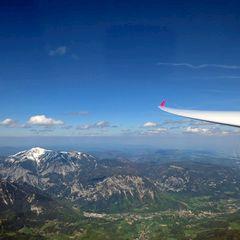 Flugwegposition um 12:50:39: Aufgenommen in der Nähe von Altenberg an der Rax, Österreich in 2750 Meter