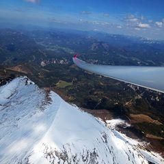 Flugwegposition um 13:13:45: Aufgenommen in der Nähe von Gaming, Österreich in 2455 Meter