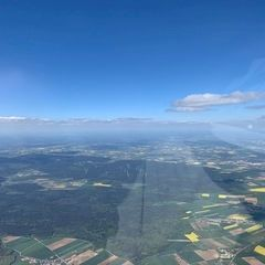 Verortung via Georeferenzierung der Kamera: Aufgenommen in der Nähe von Eichstätt, Deutschland in 2400 Meter