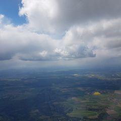 Flugwegposition um 09:58:23: Aufgenommen in der Nähe von Weißenburg-Gunzenhausen, Deutschland in 1717 Meter