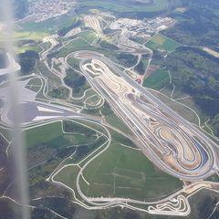 Flugwegposition um 11:23:42: Aufgenommen in der Nähe von Tuttlingen, Deutschland in 2175 Meter