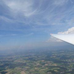 Verortung via Georeferenzierung der Kamera: Aufgenommen in der Nähe von Straubing-Bogen, Deutschland in 1500 Meter