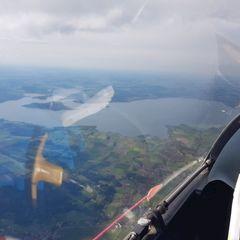 Flugwegposition um 15:15:47: Aufgenommen in der Nähe von Traunstein, Deutschland in 2682 Meter