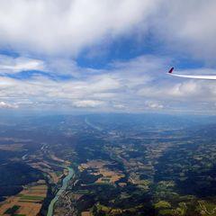 Flugwegposition um 12:23:42: Aufgenommen in der Nähe von Municipality of Prevalje, 2391 Prevalje, Slowenien in 2292 Meter