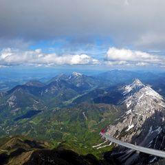 Flugwegposition um 13:03:28: Aufgenommen in der Nähe von Gemeinde Feistritz im Rosental, Feistritz im Rosental, Österreich in 2613 Meter