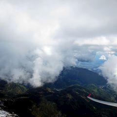 Flugwegposition um 13:03:36: Aufgenommen in der Nähe von Gemeinde Feistritz im Rosental, Feistritz im Rosental, Österreich in 2592 Meter
