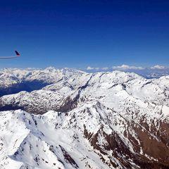Flugwegposition um 12:45:36: Aufgenommen in der Nähe von Mallnitz, Österreich in 3079 Meter