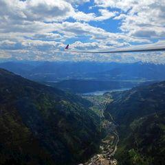 Flugwegposition um 13:08:05: Aufgenommen in der Nähe von Gemeinde Treffen am Ossiacher See, Treffen am Ossiacher See, Österreich in 1607 Meter