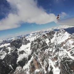 Flugwegposition um 11:27:34: Aufgenommen in der Nähe von 32041 Auronzo di Cadore, Belluno, Italien in 3221 Meter