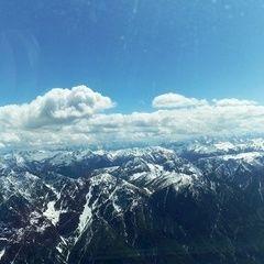 Flugwegposition um 12:56:31: Aufgenommen in der Nähe von Gemeinde Leisach, Österreich in 3232 Meter