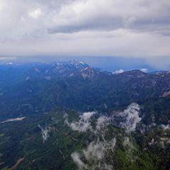 Flugwegposition um 12:43:11: Aufgenommen in der Nähe von Gemeinde St. Jakob im Rosental, Österreich in 2100 Meter
