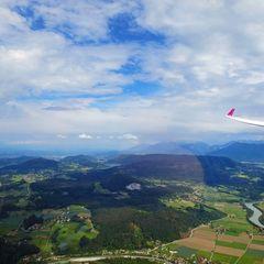 Flugwegposition um 13:31:18: Aufgenommen in der Nähe von Techelsberg am Wörther See, Gemeinde Techelsberg am Wörther See, Österreich in 1063 Meter