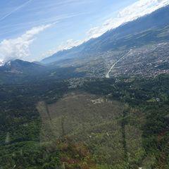 Flugwegposition um 09:36:14: Aufgenommen in der Nähe von Innsbruck, Österreich in 1255 Meter