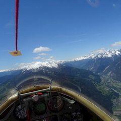 Flugwegposition um 10:24:07: Aufgenommen in der Nähe von Gemeinde Karrösten, Österreich in 2008 Meter