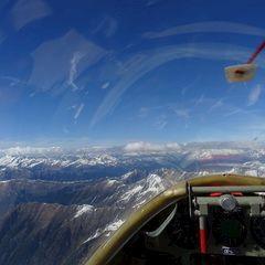 Flugwegposition um 14:57:15: Aufgenommen in der Nähe von 39058 Sarntal, Südtirol, Italien in 3374 Meter
