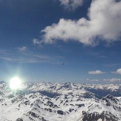 Flugwegposition um 13:25:28: Aufgenommen in der Nähe von Gemeinde Serfaus, Serfaus, Österreich in 3421 Meter