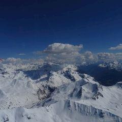 Flugwegposition um 14:52:41: Aufgenommen in der Nähe von Bezirk Inn, Schweiz in 3522 Meter