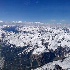 Flugwegposition um 13:40:53: Aufgenommen in der Nähe von Gemeinde Klösterle, Österreich in 3246 Meter