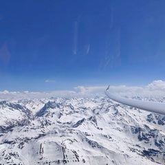 Flugwegposition um 13:43:51: Aufgenommen in der Nähe von Gemeinde Lech, Lech, Österreich in 3206 Meter